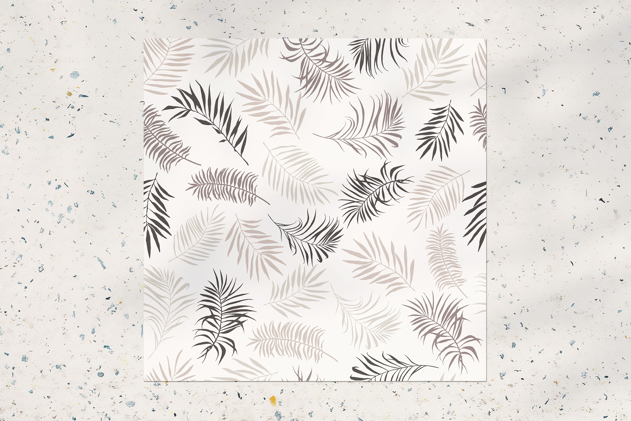 Tropical leaves seamless pattern example image 2