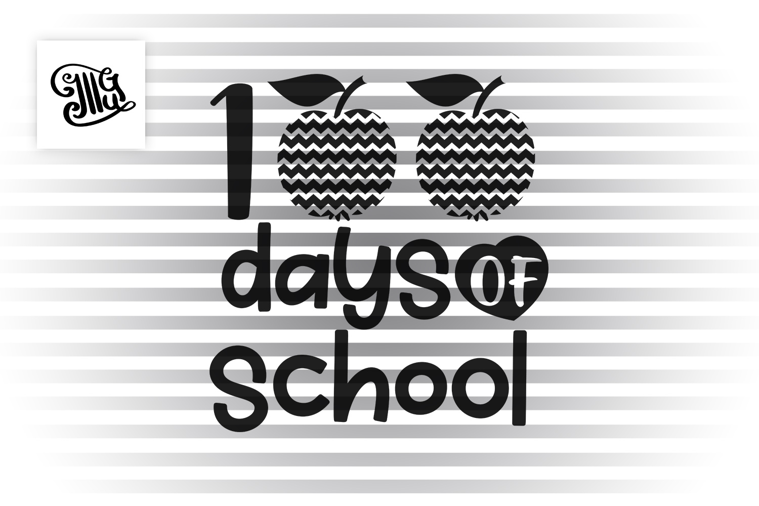 100 Days of school girls svg example image 2