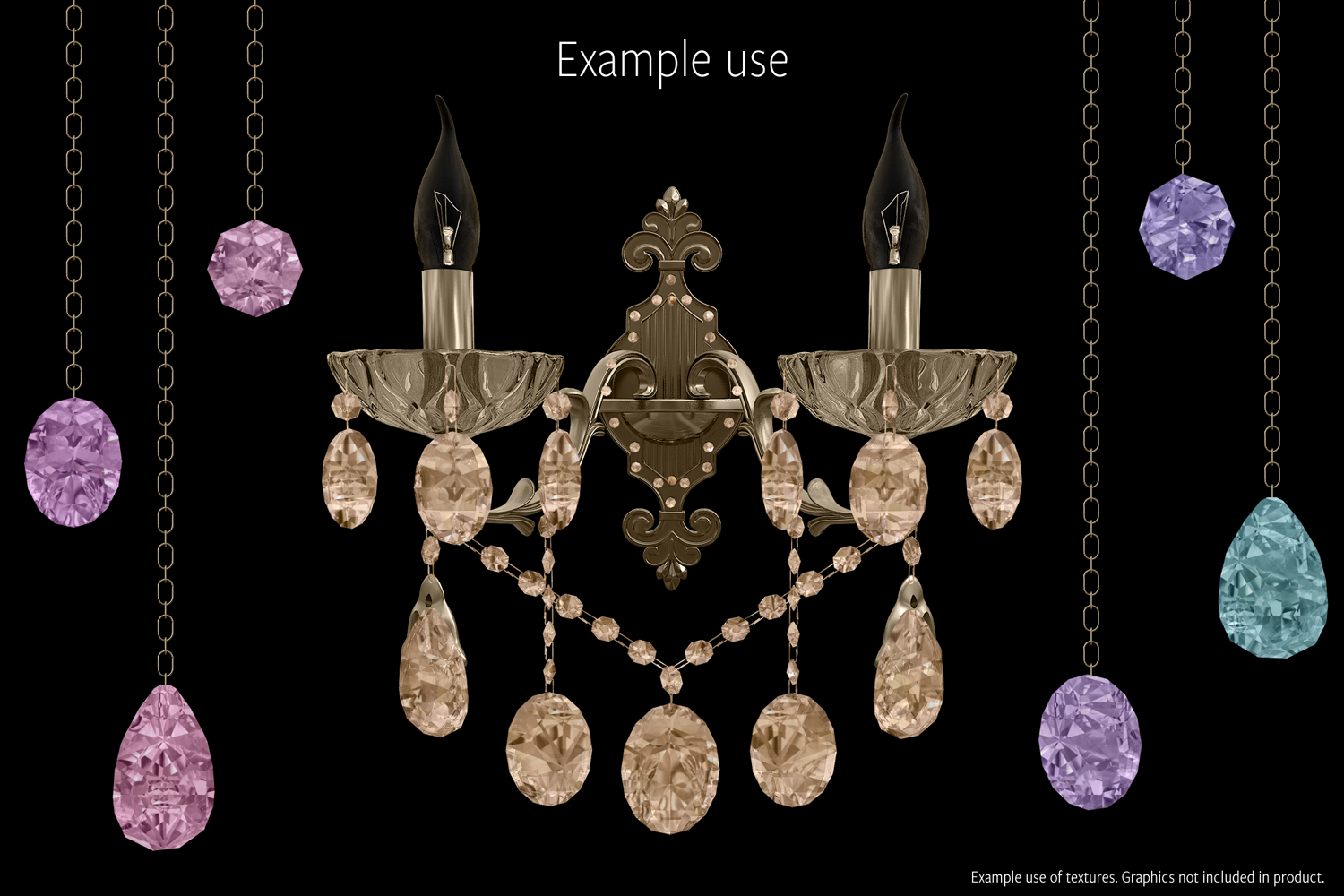 Gemstone Textures Pack 2 example image 4