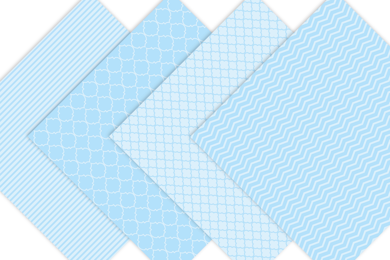 Baby Boy Pastel Blue Digital Paper example image 4