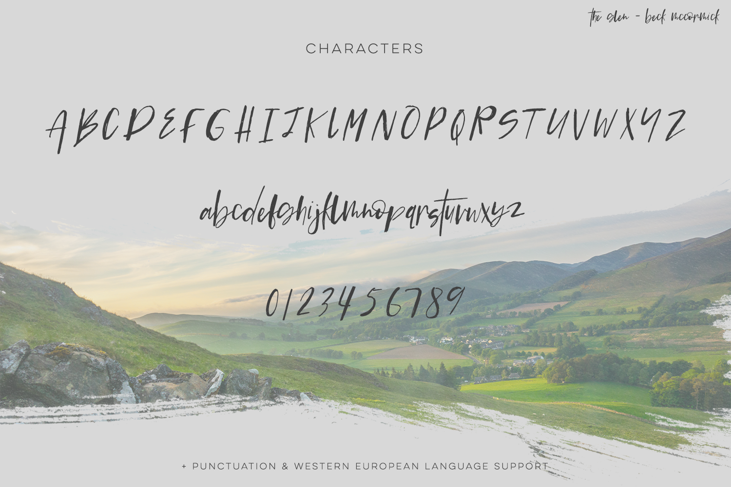 The Glen Brush Script example image 10