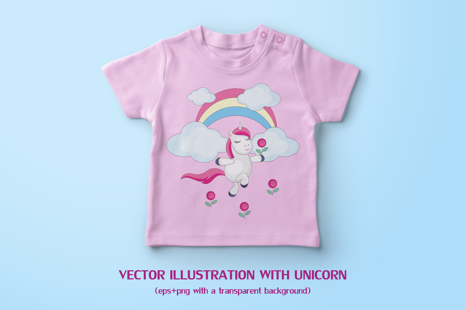 Funny unicorns. Vector clipart and seamless patterns. example image 3