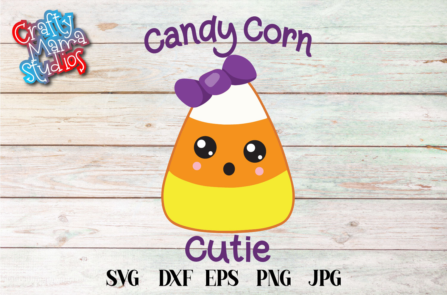 Candy Corn Cutie SVG Sublimation, Halloween SVG File example image 2