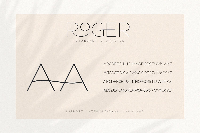 Roger - An Elegant Sans Serif example image 7