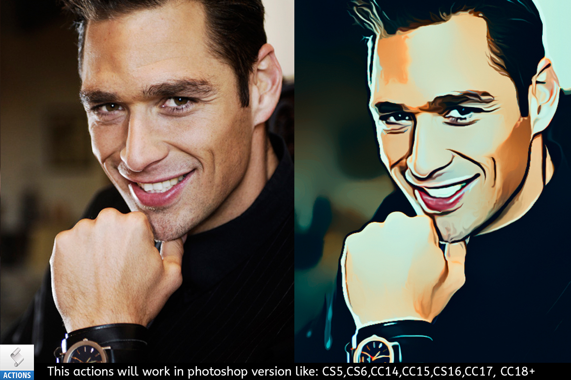 Vector Painting Photoshop Action example image 3