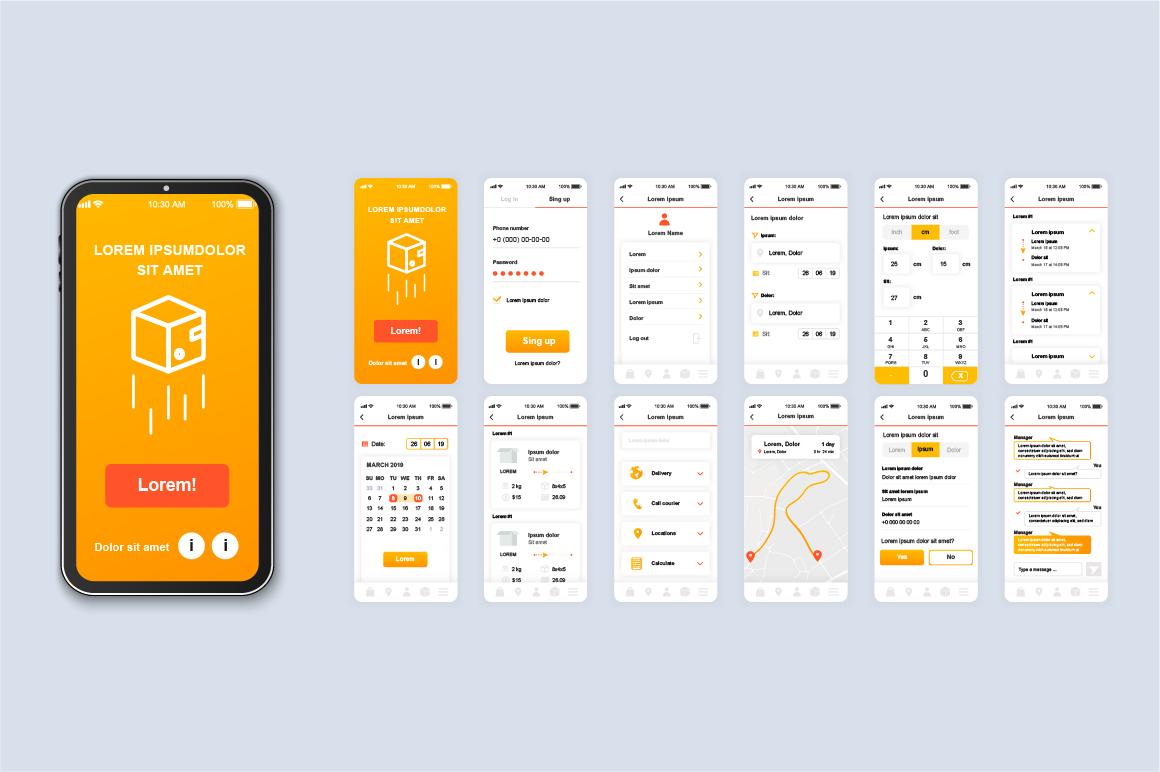 Bundle Mobile App UI Kit Screens example image 6