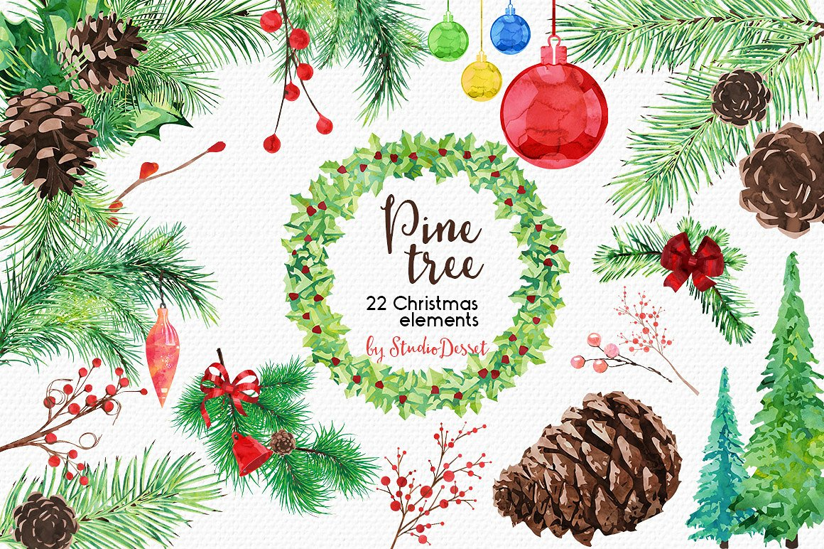 Christmas Bundle of Illustrations example image 4