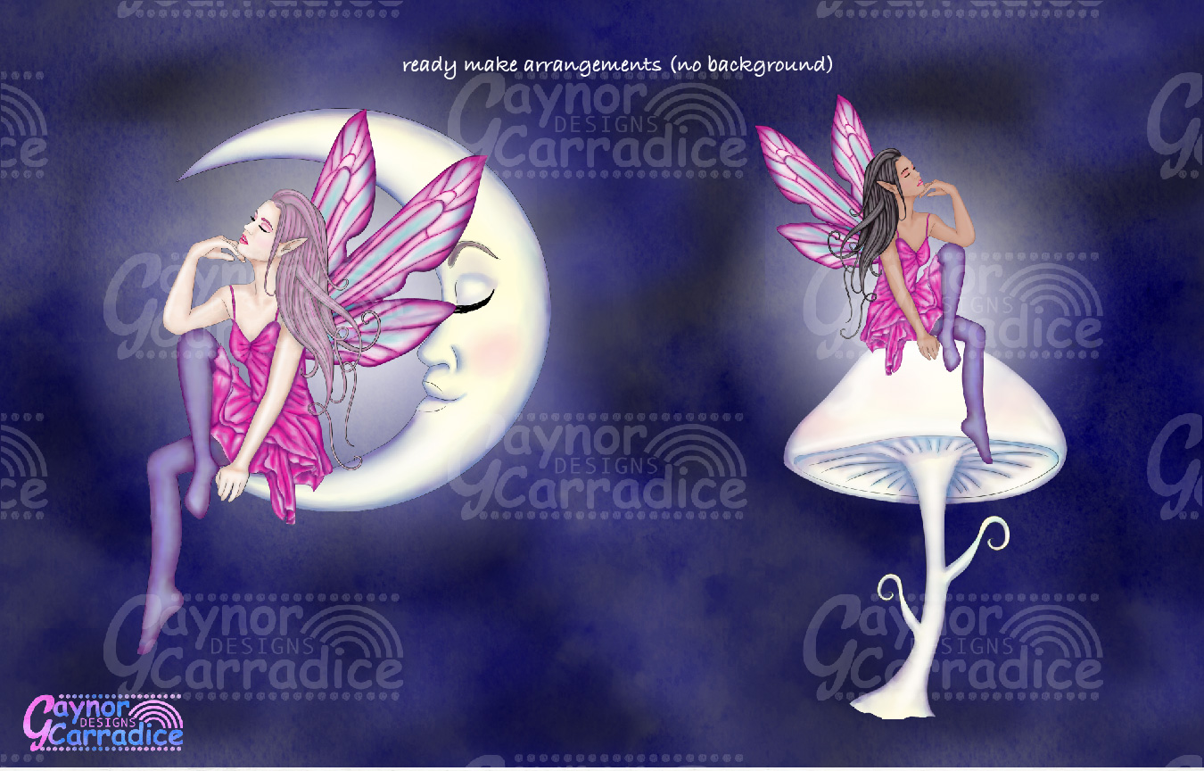Moonligh Fairy Clipart Collection example image 4