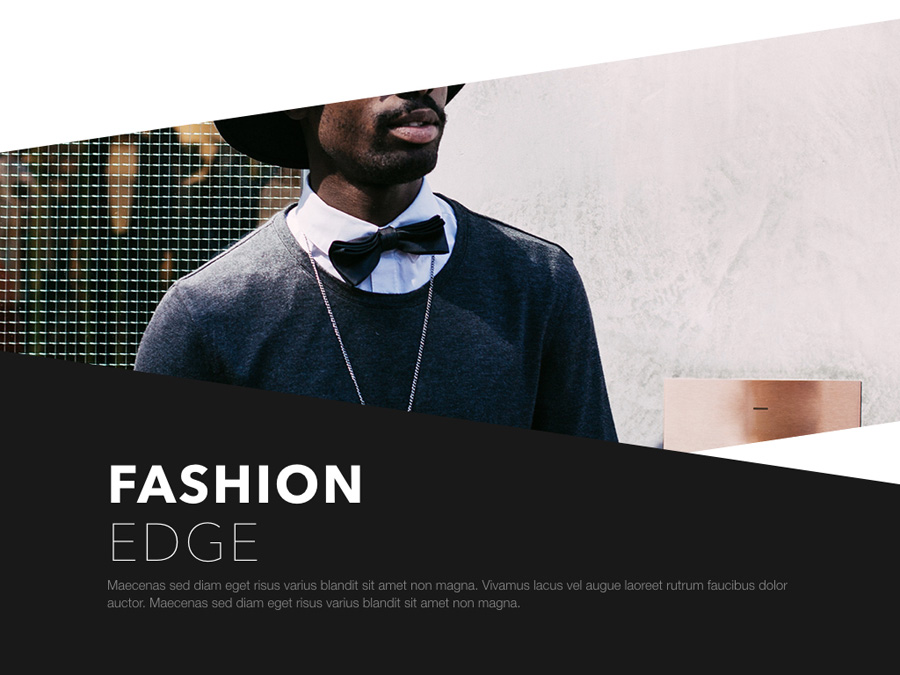 Fashion Edge PowerPoint Template example image 2