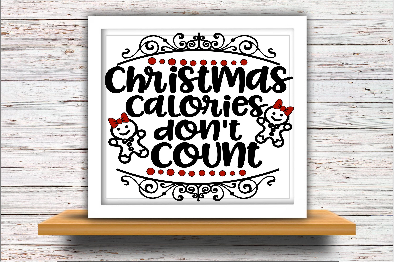Christmas SVG DXF JPEG Silhouette Cameo Cricut Calories svg example image 2