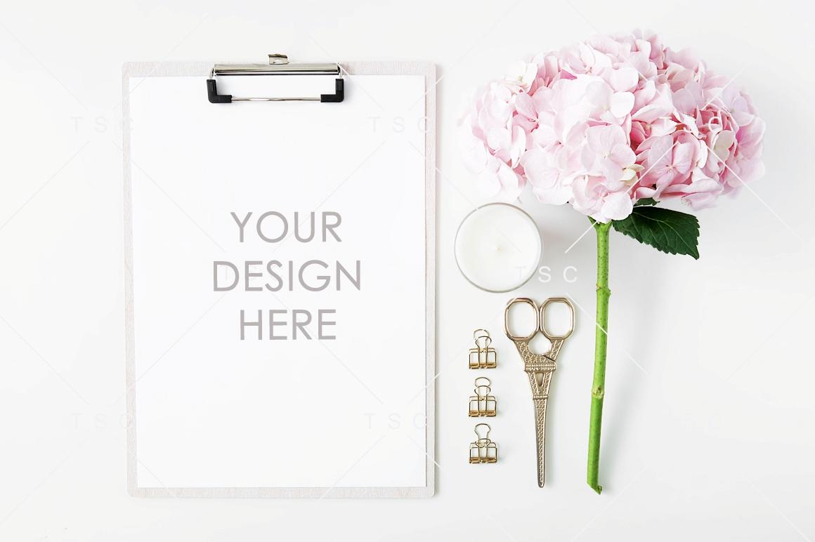 Feminine A4 Size Paper/Card Mockup example image 1