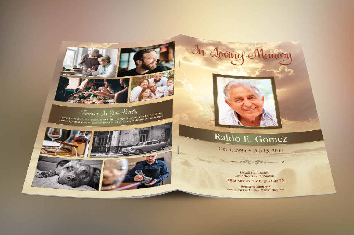 Forever Funeral Program Template example image 2