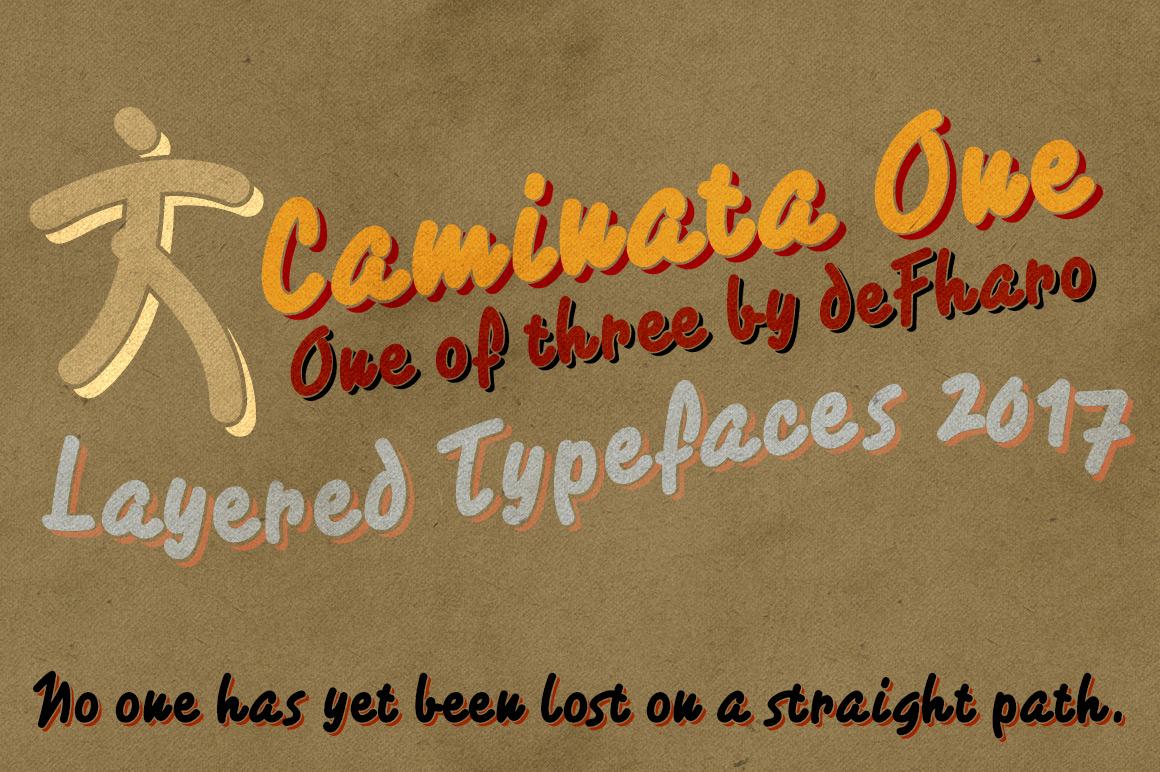 Caminata fonts example image 2