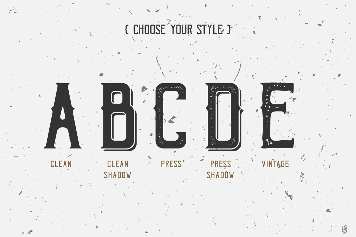 Bohem Typeface - 5 Font Styles example image 3