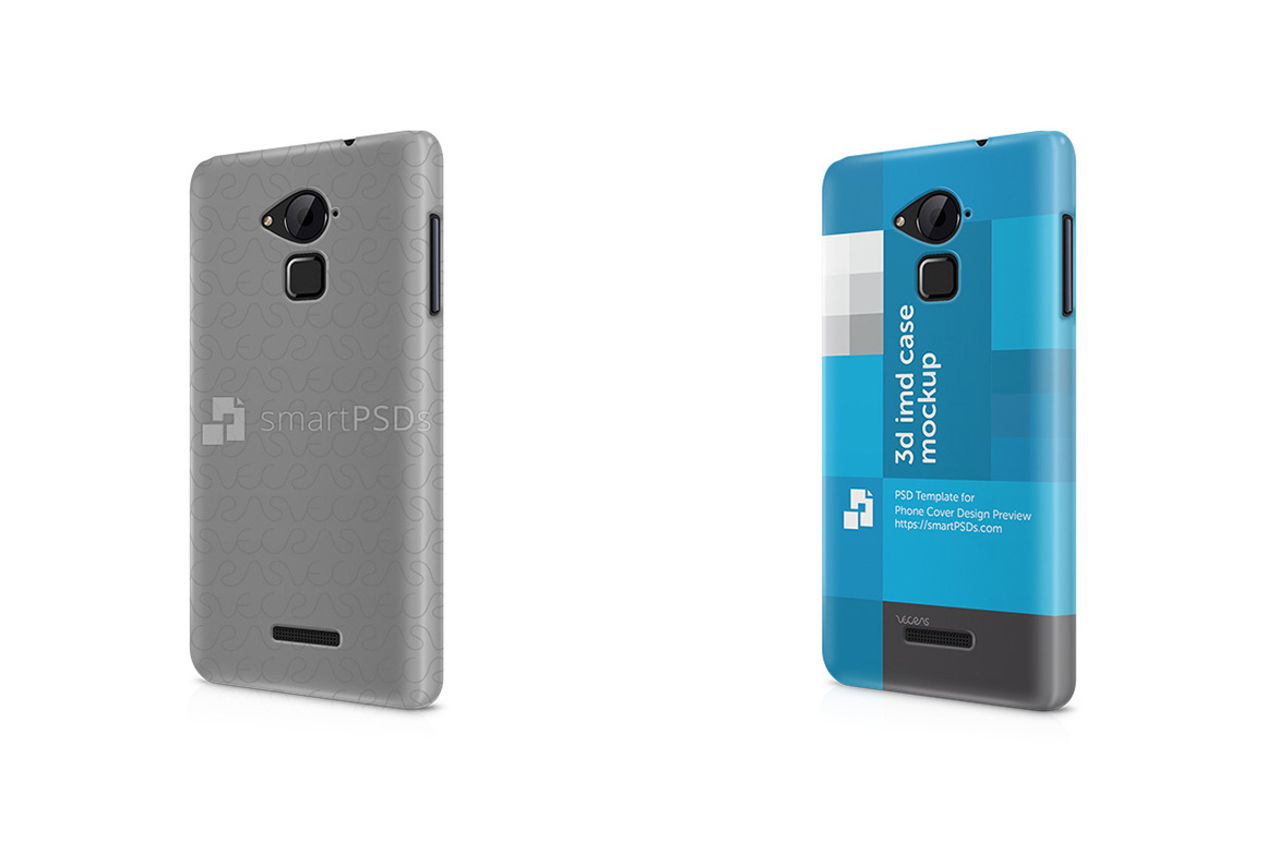 Coolpad Note 3 3d IMD Mobile Case Design Mockup 2015-Left View example image 1