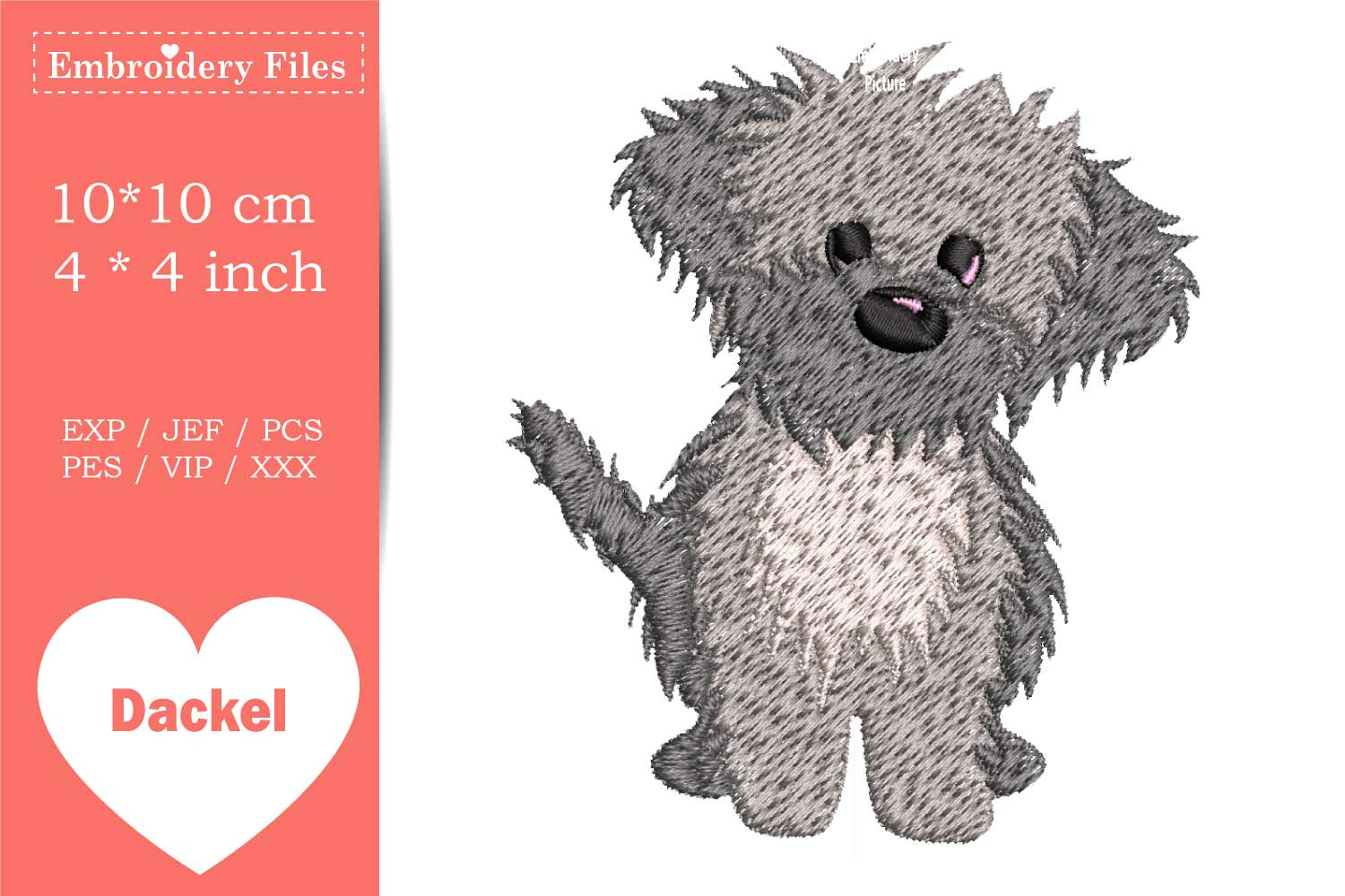 Cute little Havaneser Dog - Embroidery File example image 2