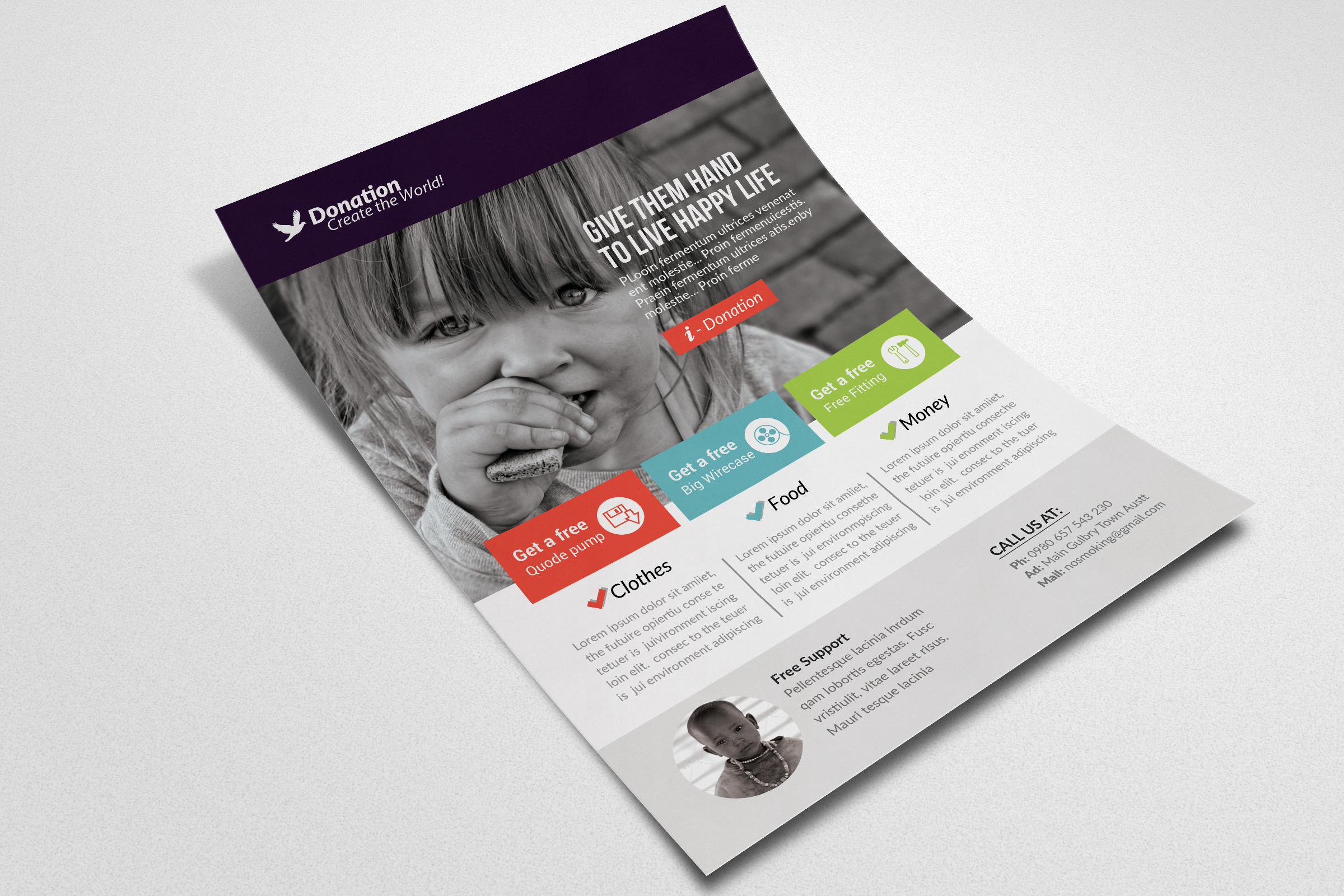 Charity & Donation Flyer Templates example image 2