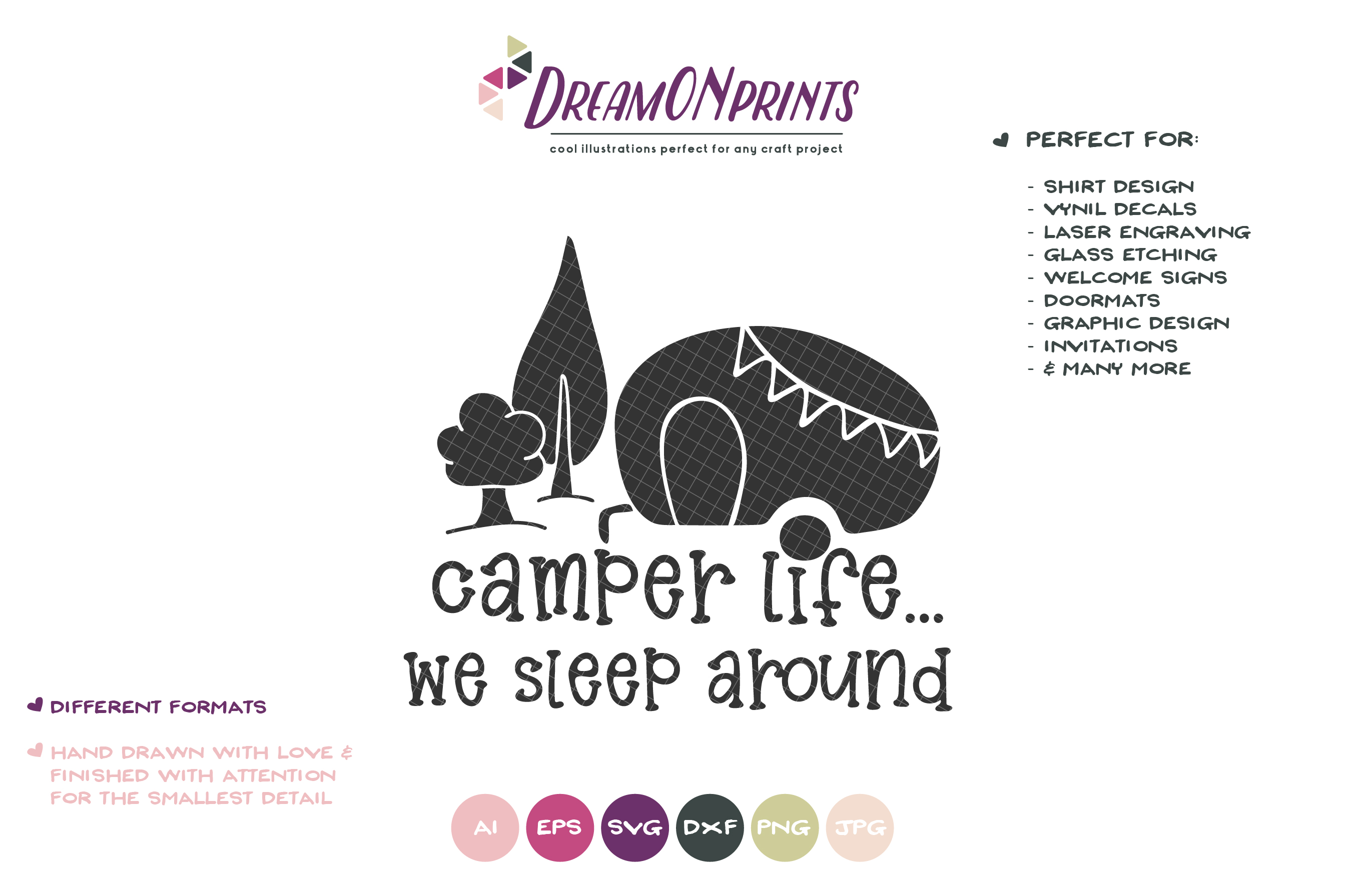 Camping SVG - Camper Life, We Sleep Around example image 2