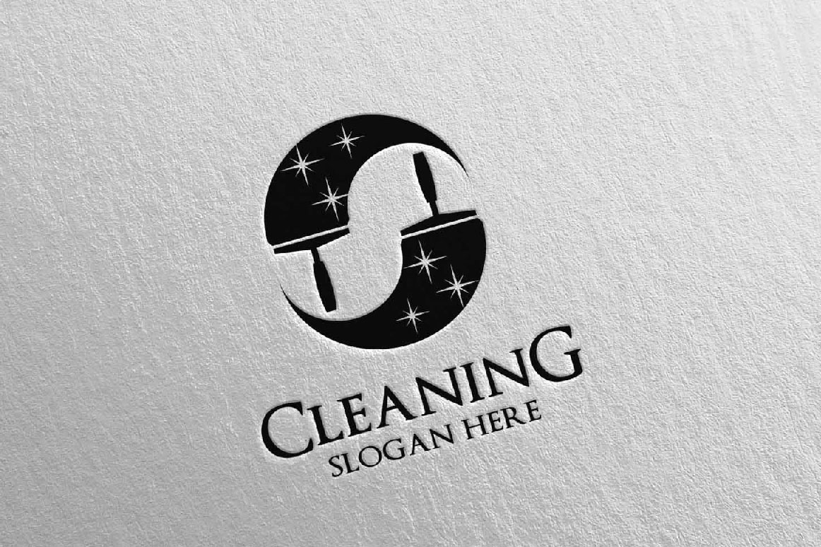 Cleaning Service Vector Logo Design example image 5