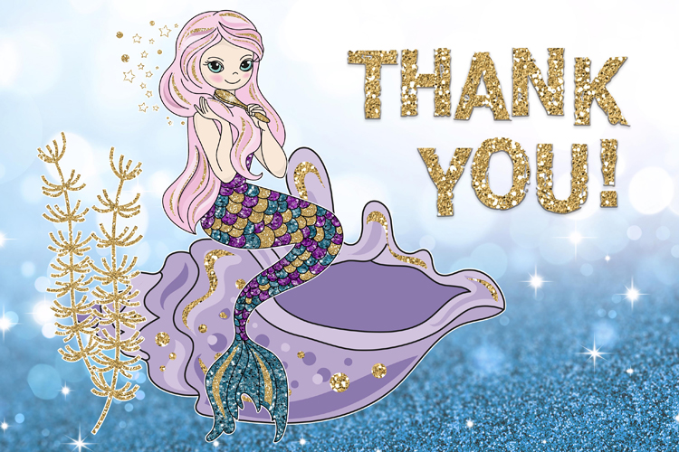 BEAUTIFUL MERMAID Vector Illustration Set example image 5
