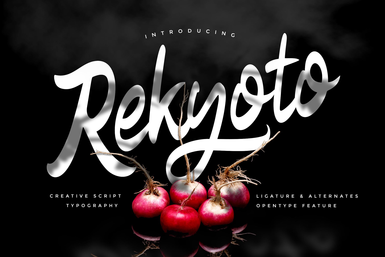 Rekyoto   Delicious Script Font example image 1