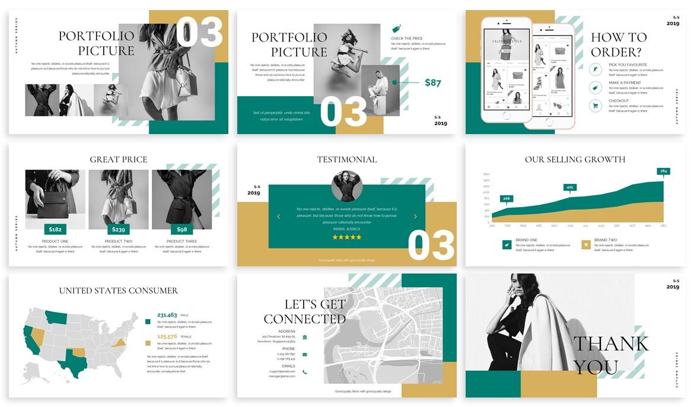 Ushka - Fashion Design Powerpoint Template example image 4