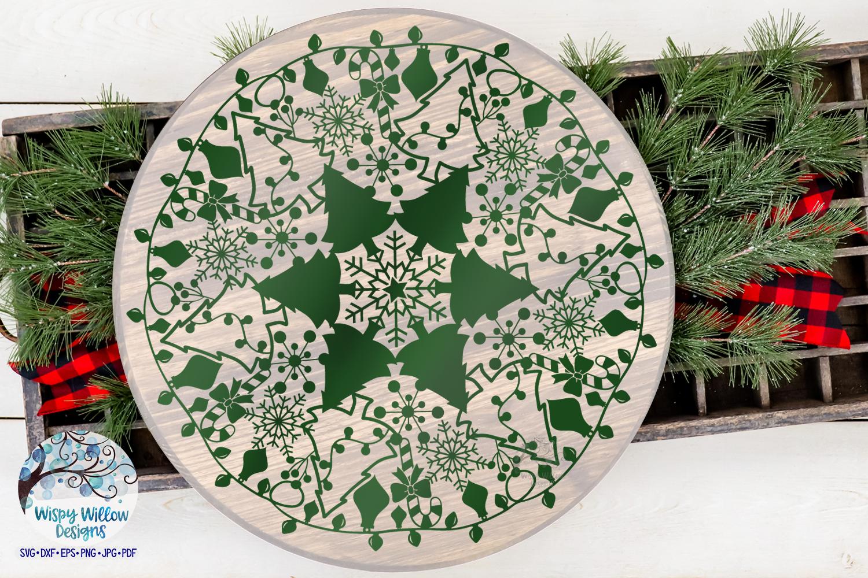 Christmas Mandala SVG | Christmas SVG Cut File example image 4