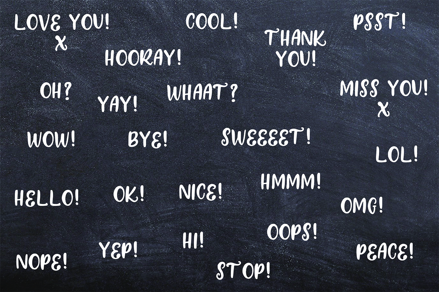 24 Hand Drawn Black and White Speech Bubbles Doodle Clipart example image 5