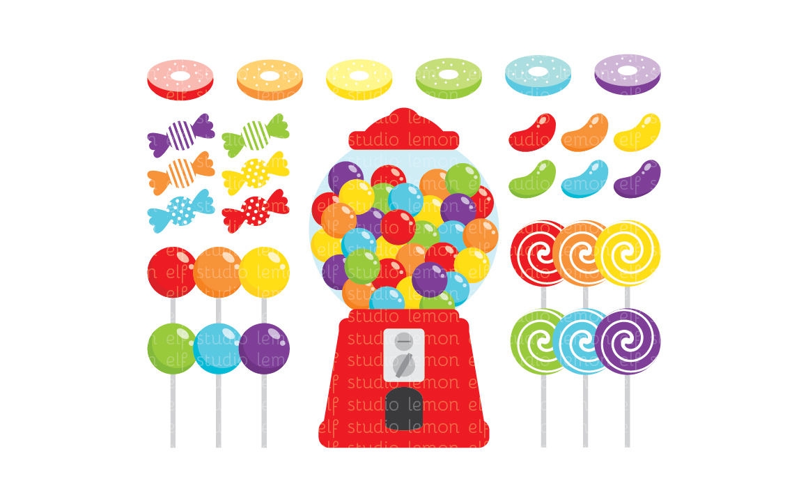 Candy Shop-Digital Clipart (LES.CL05A) example image 1