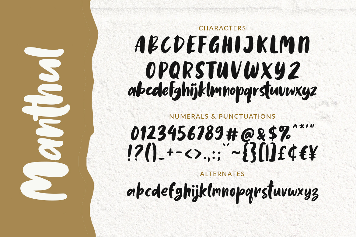 Manthul - Cute & Bold Font example image 5