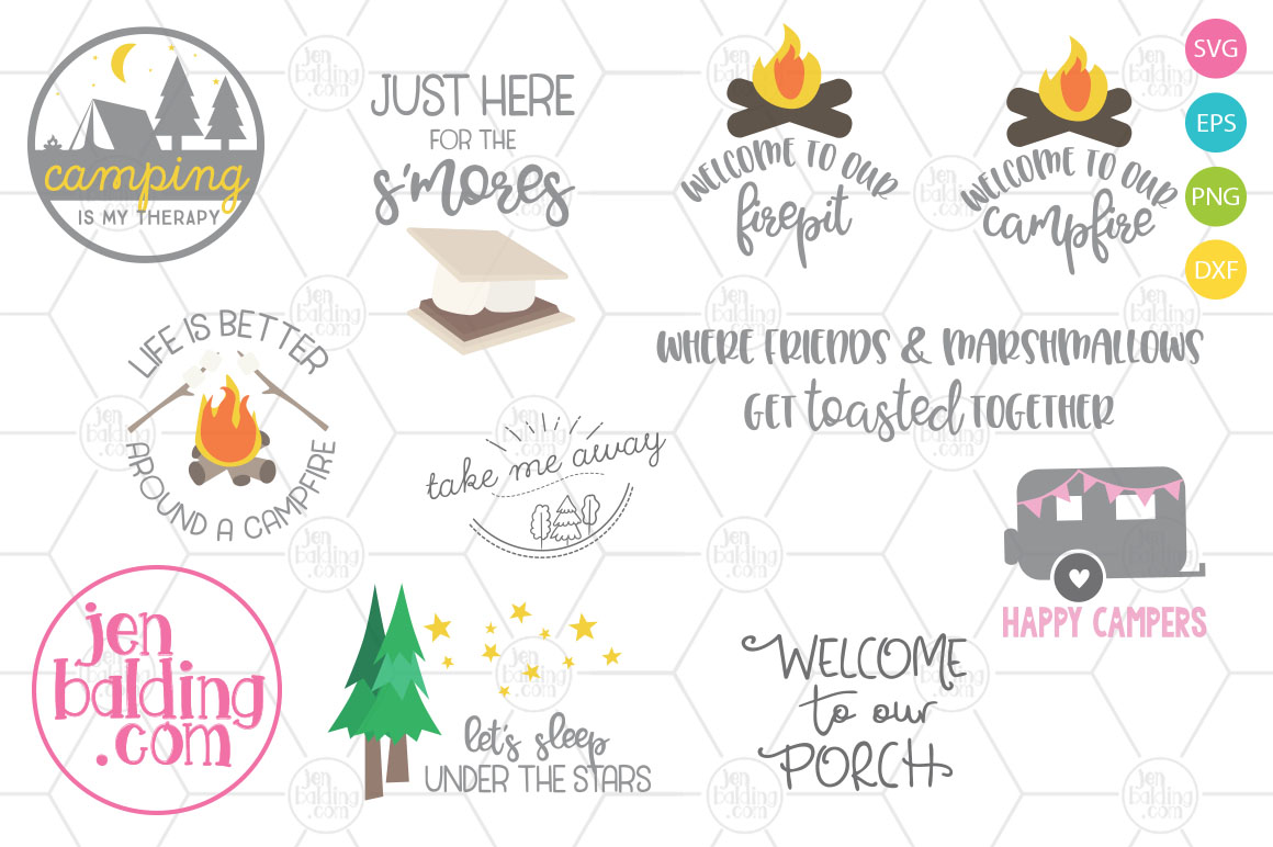 Camping SVG Bundle example image 1