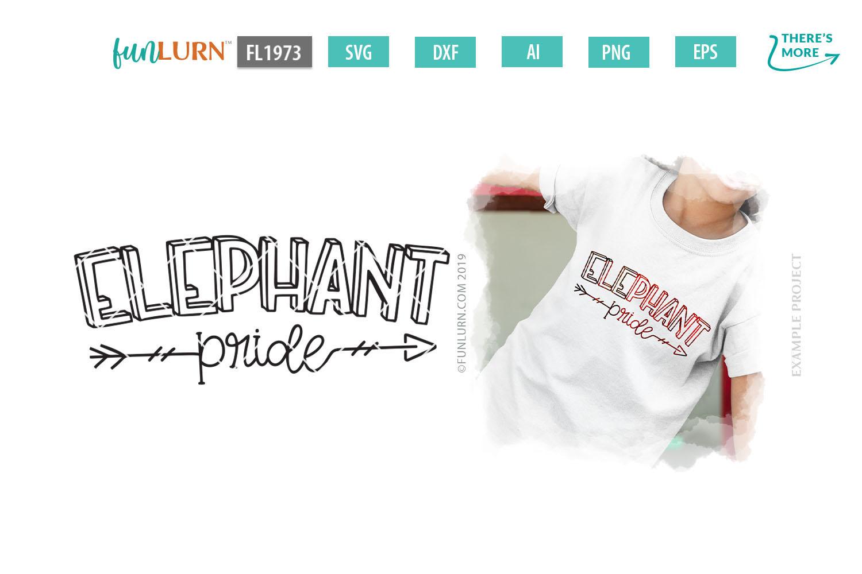 Elephant Pride Team SVG Cut File example image 1