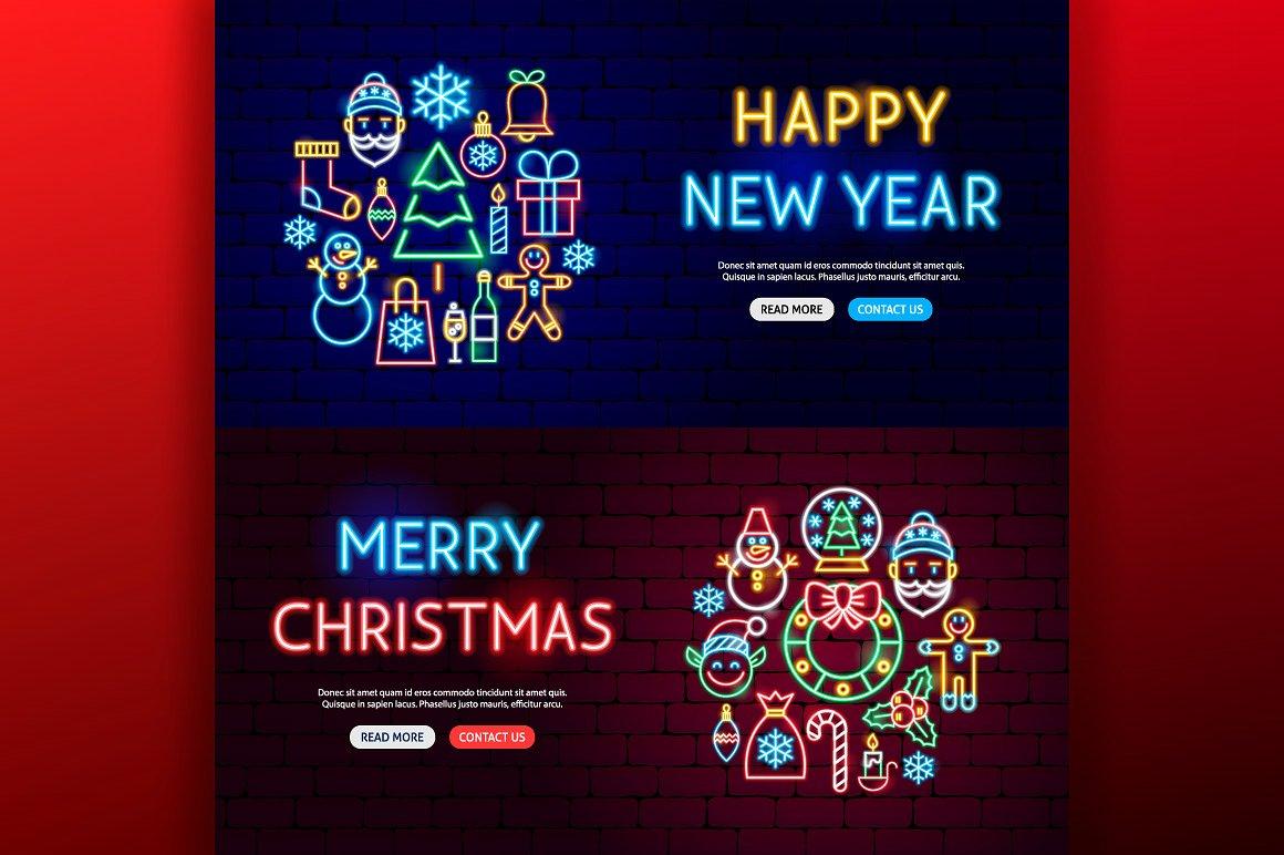 Christmas Neon example image 7