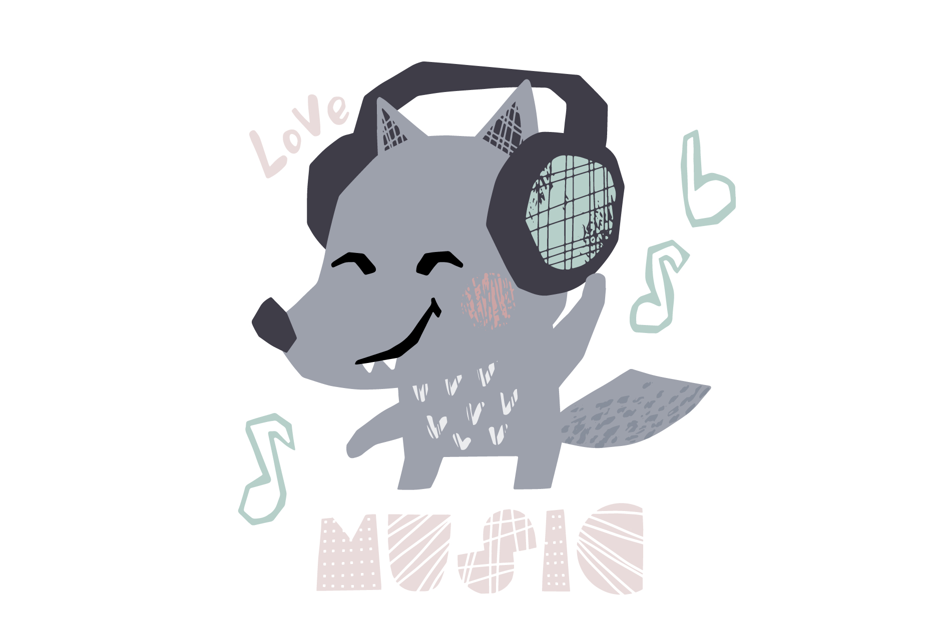 Dancing animals. Music kids vector example image 9