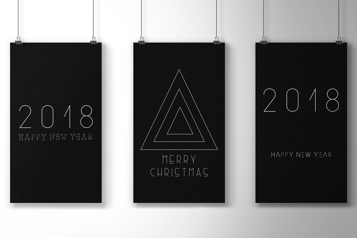 Minimalistic Merry Christmas cards example image 2
