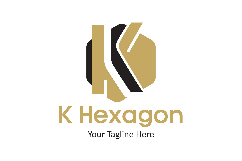 K letter hexagon logo example image 1