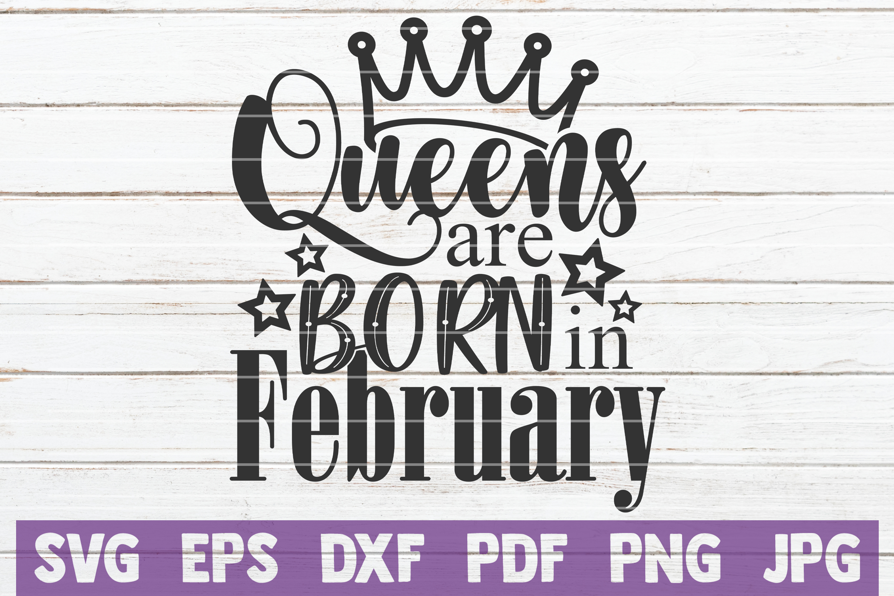 Queens Are Born In ... SVG Bundle | Birthday girl Cut Files example image 5