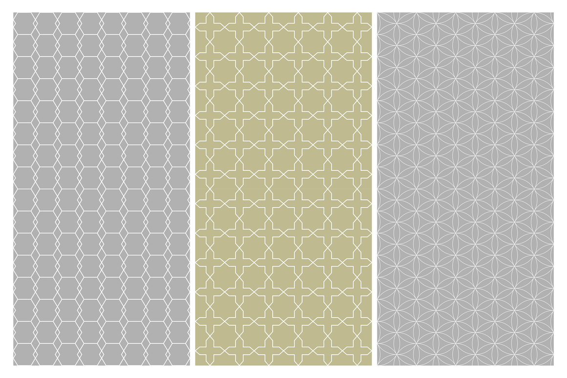 Geometric seamless symmetry patterns example image 5