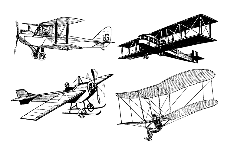 Vintage Airplanes Bundle PNG, EPS, SVG Vector example image 2