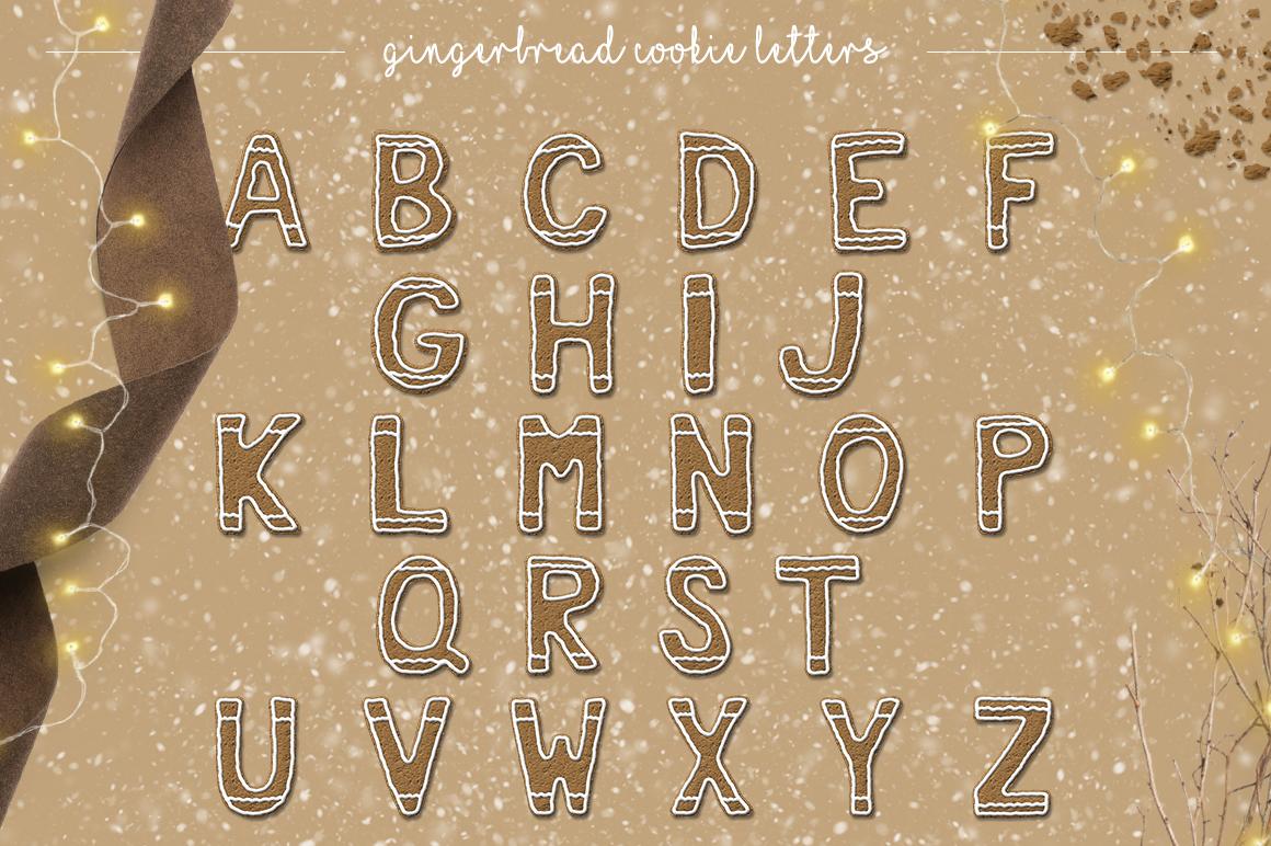 Gingerbread Cookie Letters  Bonus example image 2