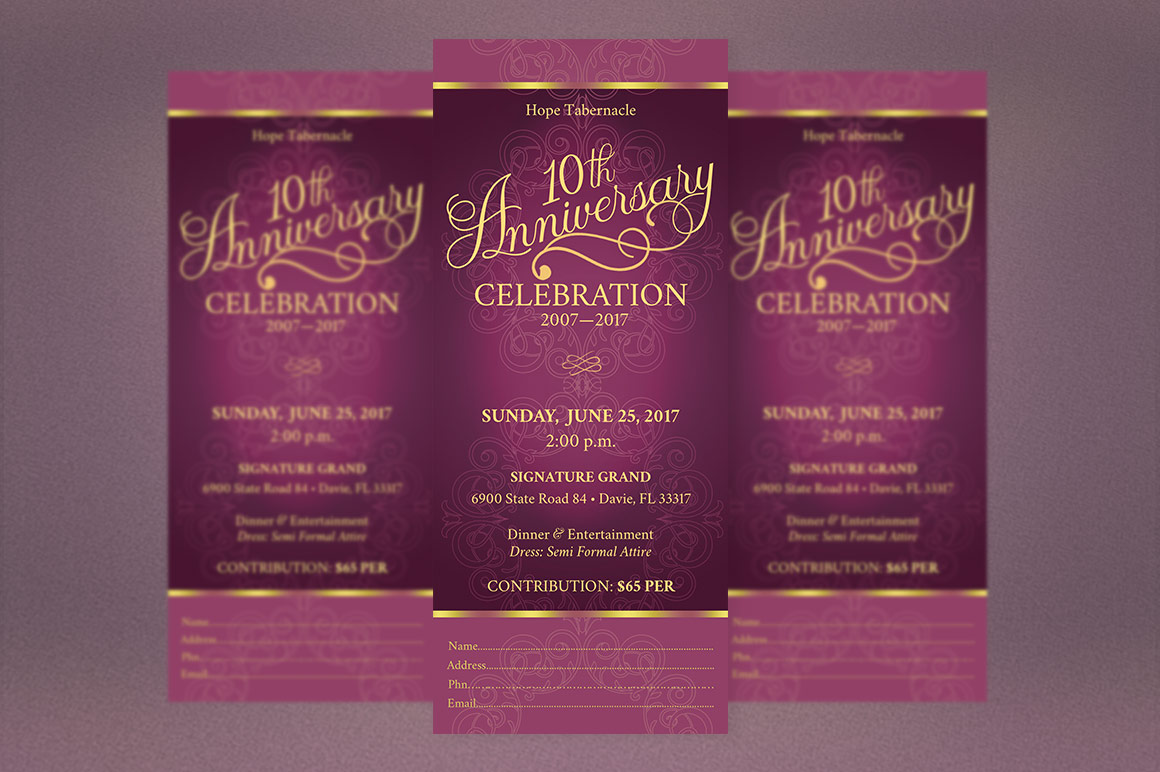 Church Anniversary Publisher Ticket Bundle example image 2