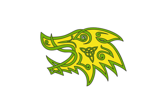 Boar Head Celtic Knot example image 1