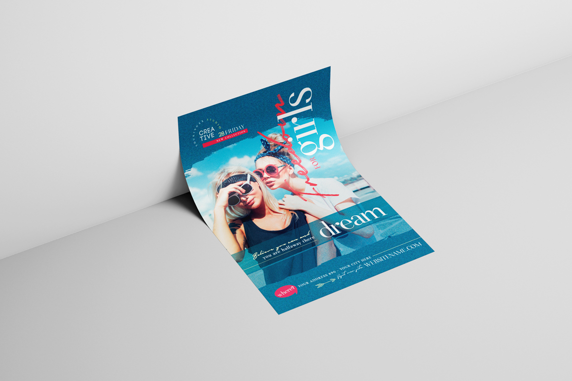 Freedom For Girls Flyer Template example image 3