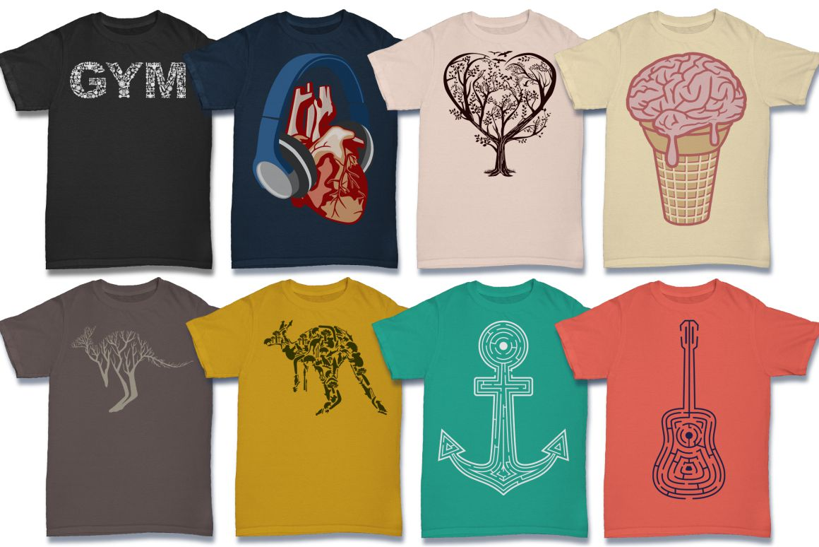 103 Tshirt Designs Mega Bundle example image 8