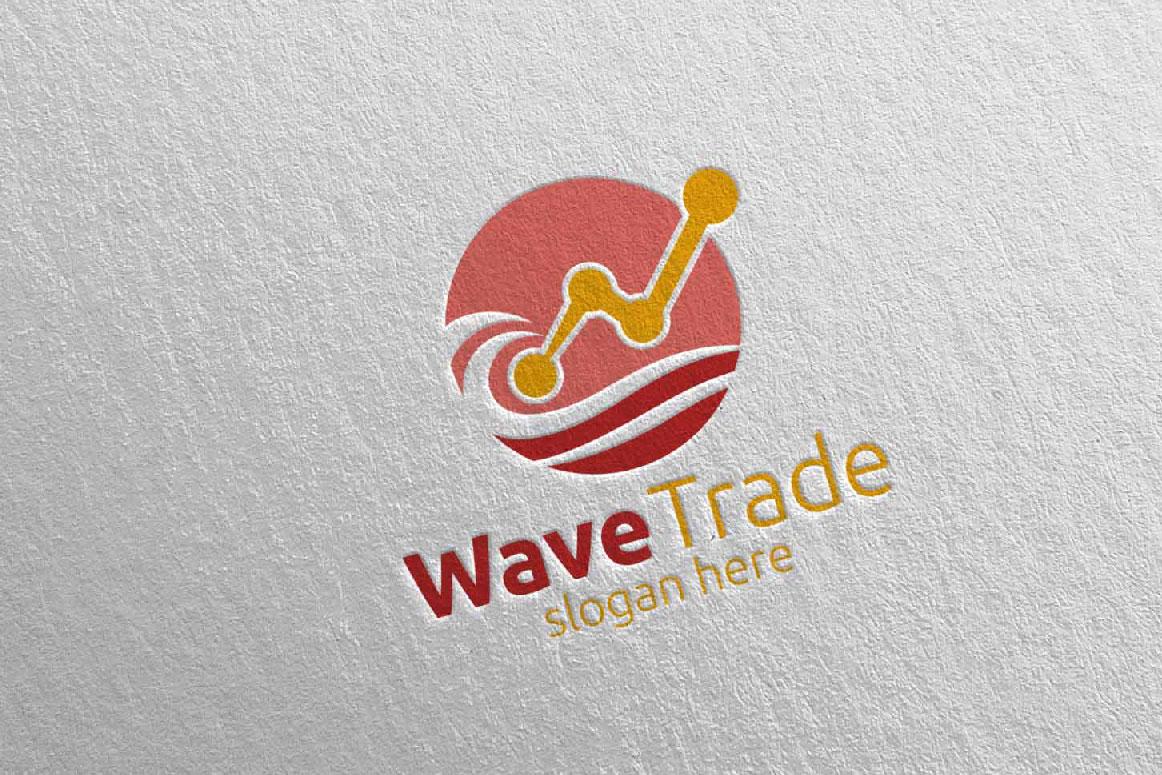 Wave Trade Marketing Financial Advisor Logo Design 26 example image 3