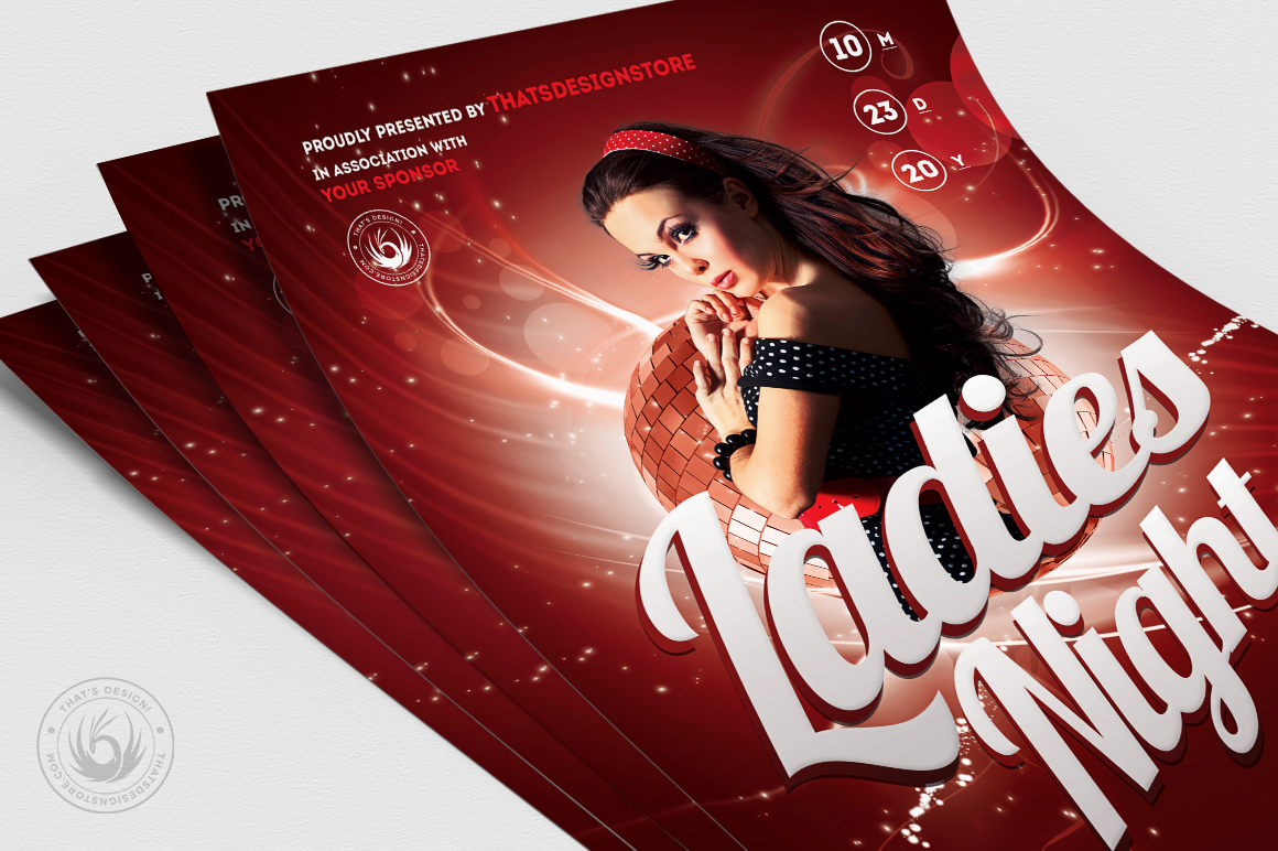 Ladies Night Flyer template V1 example image 5