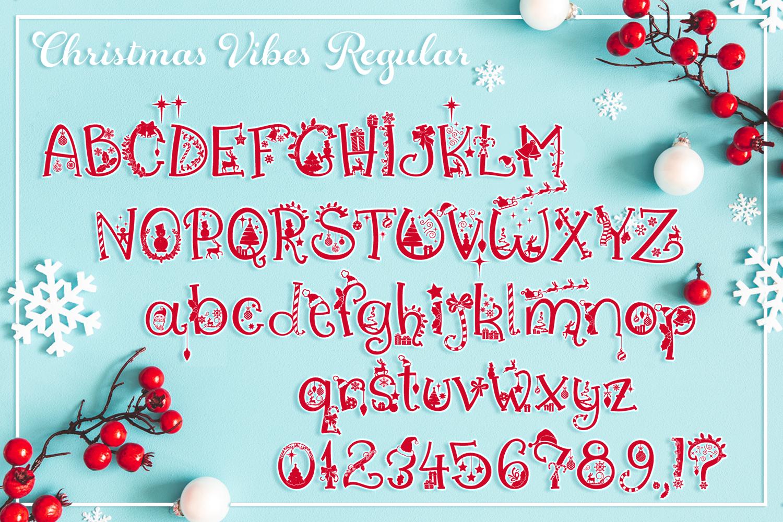 Christmas Vibes | A Whimsical Christmas Font example image 3