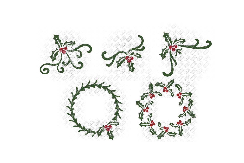 Mistletoe SVG Monogram Christmas in SVG, DXF, PNG, EPS, JPEG example image 3