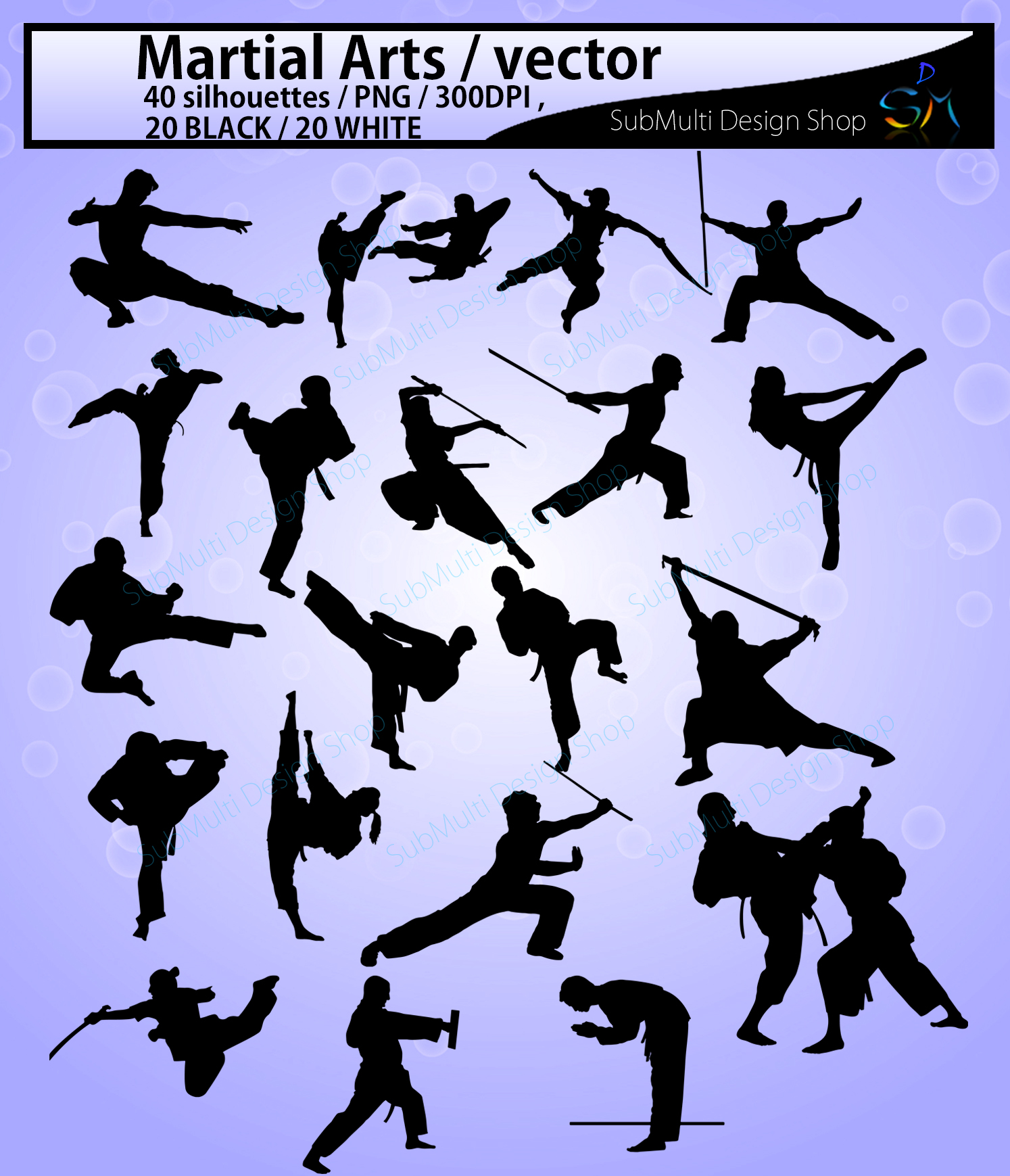 Martial arts SVG / High Quality /Martial art silhouette / Martial arts cliparts / karate silhouette/ silhouette /300 DPI / EPS / PNg/ DXf example image 2