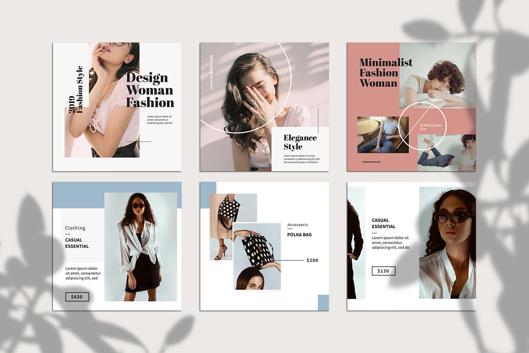 Fashion Instagram Templates example image 5